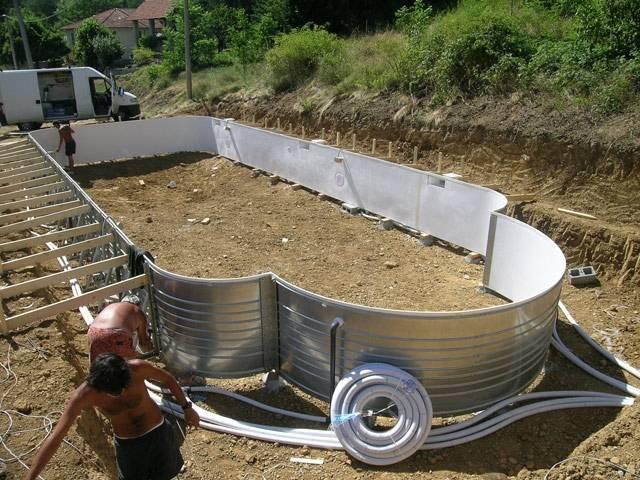 Installazione delle piscine interrate solaris - Rivestire piscina fuori terra fai da te ...