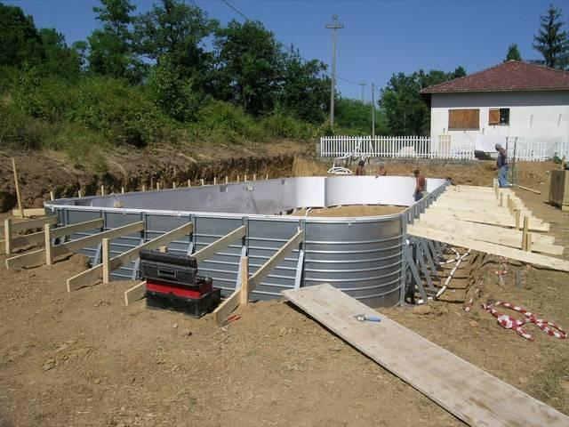 Installazione delle piscine interrate solaris - Piscina fuori terra interrata ...