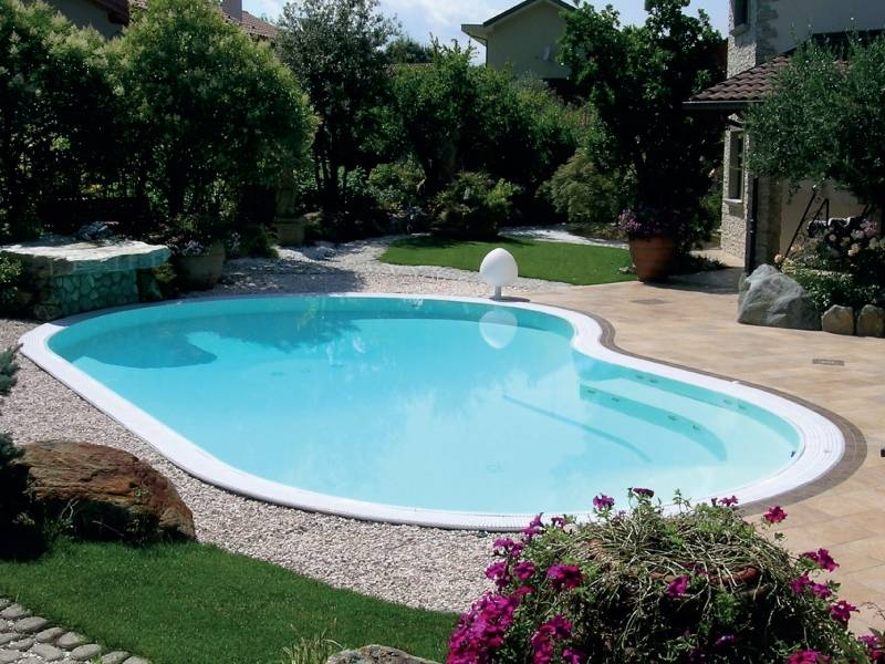 Piscine interrate modello sfioro top solaris - Costo piscina interrata ...